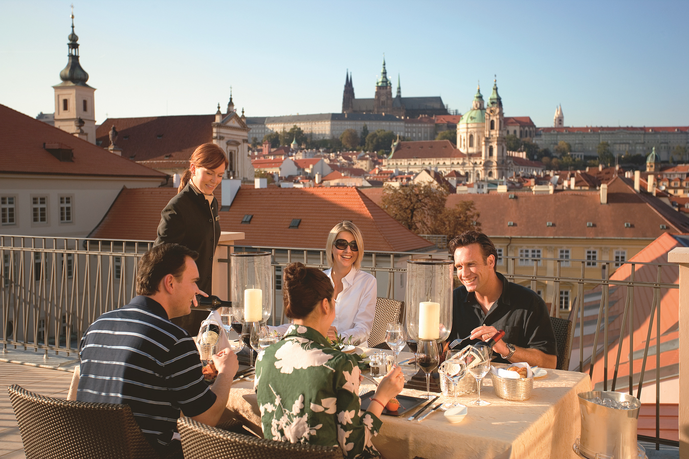 Mandarin oriental prague presidential suite terrace