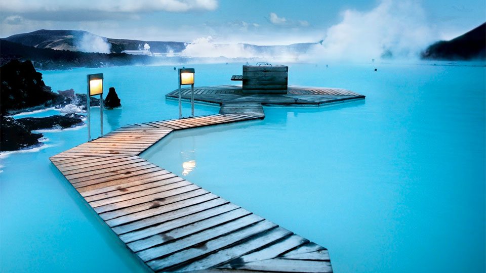 Blue Lagoon Geothermal Resort pool, Grindavík, Iceland