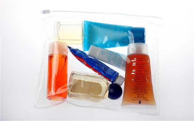 travel size toiletries room suggestion